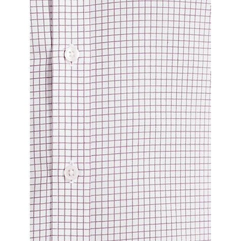 Buy John Lewis Grid Check Tailored Non-Iron Long Sleeve Shirt Online at johnlewis.com