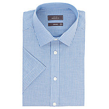 Buy John Lewis Oxford Stripe Non-Iron Short Sleeve Shirt Online at johnlewis.com