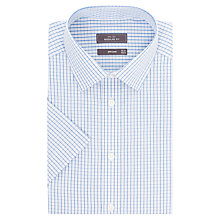 Buy John Lewis Fine Check Non-Iron Short Sleeve Shirt Online at johnlewis.com