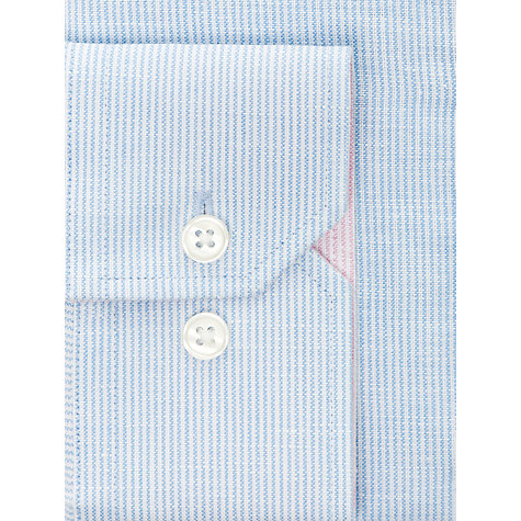 Buy John Lewis Cotton Linen Blend Fine Stripe Shirt Online at johnlewis.com