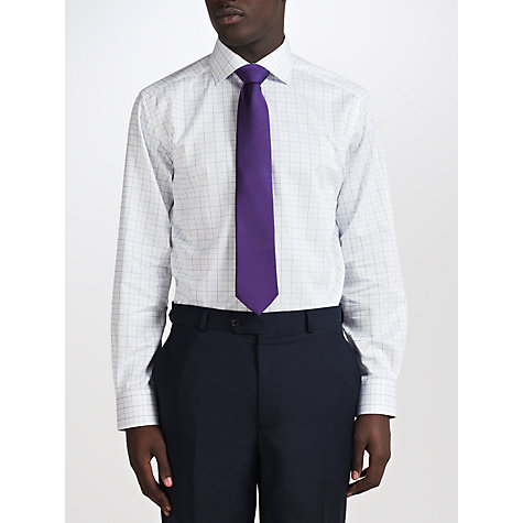 Buy John Lewis Twill Windowpane Non-Iron Shirt Online at johnlewis.com