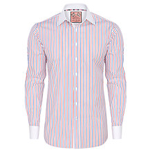 Buy Thomas Pink Gelston Stripe Shirt, Blue/Red Online at johnlewis.com