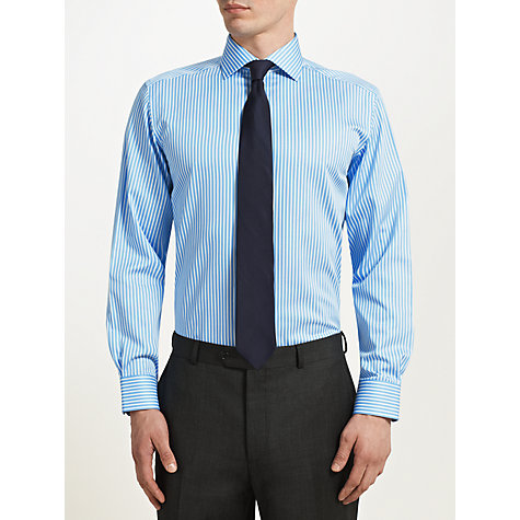 Buy John Lewis Twill Stripe Non Iron Shirt Online at johnlewis.com
