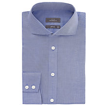 Buy John Lewis Tailored Fit Dobby Non-Iron Shirt, Blue Online at johnlewis.com