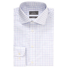 Buy John Lewis Twill Windowpane Non-Iron Long Sleeve Shirt Online at johnlewis.com
