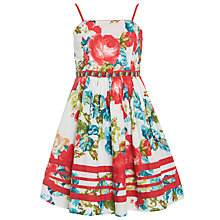 Buy Derhy Kids Girls' Cassandre Poppy Dress, Red/Blue Online at johnlewis.com