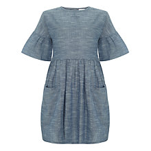 Buy Kin by John Lewis Sleeve Detail Cotton Dress, Chambray Online at johnlewis.com