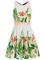Derhy Kids Girls' Capucine Floral Dress, White/Green
