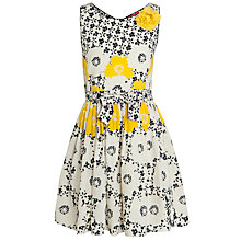 Buy Derhy Kids Girls' Celestine Dress, Yellow/Cream Online at johnlewis.com