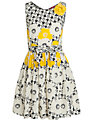 Derhy Kids Girls' Celestine Dress, Yellow/Cream