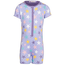 Buy John Lewis Girl Star Print Onesie, Lilac/Multi Online at johnlewis.com