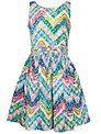 Derhy Kids Girls' Cherie Aztec Print Dress, Multi