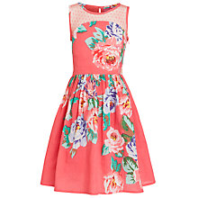 Buy Derhy Kids Girls' Carmen Floral Print Dress, Coral Online at johnlewis.com