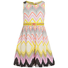 Buy Derhy Kids Girls' Cerise Ikat Print Dress, Yellow/Pink Online at johnlewis.com