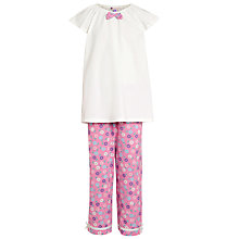 Buy John Lewis Girl Floral Pyjamas, Pink/Cream Online at johnlewis.com