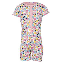 Buy John Lewis Girl Strawberry Print Onesie, Multi Online at johnlewis.com