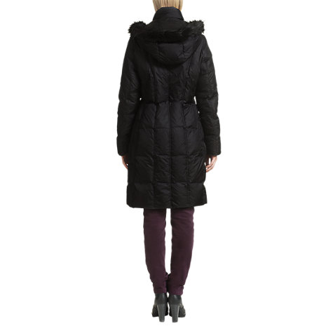 Buy Jigsaw Fur Hood Parka, Black Online at johnlewis.com
