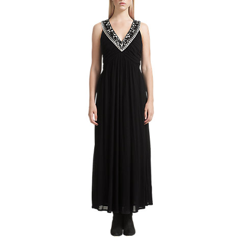 Buy Jigsaw Embellished Maxi Dress, Black Online at johnlewis.com