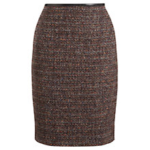 Buy Jigsaw Winter Sparkle Skirt, Burgundy Online at johnlewis.com