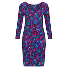 Buy Jigsaw Bloom Floral Jersey Dress, Blue Online at johnlewis.com