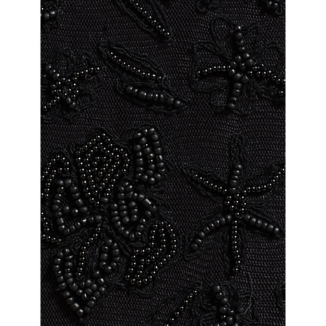 Buy Jigsaw Anna Embroidered Skirt, Black Online at johnlewis.com