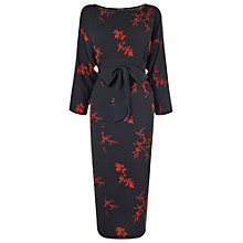 Buy Phase Eight Kiku Print Dress, Black/Red Online at johnlewis.com