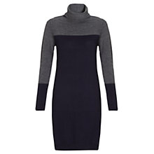 Buy Jigsaw Merino Colour Block Dress, Navy Online at johnlewis.com