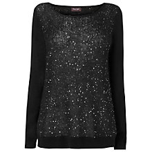 Buy Phase Eight Seraphena Sequin Jumper, Black Online at johnlewis.com