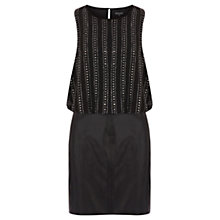 Buy Warehouse Embellished Dress, Black Online at johnlewis.com
