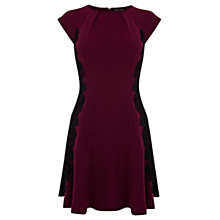 Buy Warehouse Fitted Flippy Dress, Purple Online at johnlewis.com