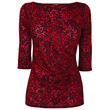 Buy Phase Eight Valentina Print Top, Red/Black Online at johnlewis.com
