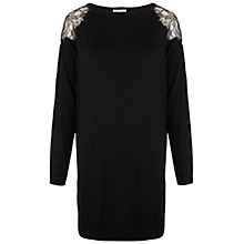 Buy Whistles Miranda Lace Insert Dress, Black Online at johnlewis.com