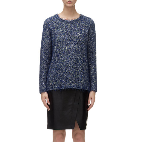 Buy Whistles Arizona Eye Lash Jumper, Blue Online at johnlewis.com