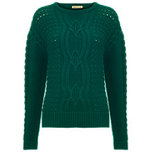 Buy Whistles Estelle Boxy Wool Jumper, Green Online at johnlewis.com