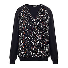 Buy Whistles Leopard Print Jumper, Multi Online at johnlewis.com