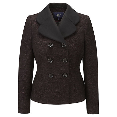 Buy Viyella Ella Jacket, Black/Orchid Online at johnlewis.com
