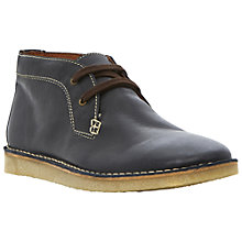 Buy Bertie Cornwall Leather Wedge Desert Boots, Navy Online at johnlewis.com
