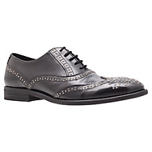 Buy KG by Kurt Geiger Portland Stud Embellished Leather Brogues, Black Online at johnlewis.com