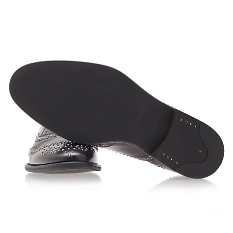 Buy KG by Kurt Geiger Portland Stud Embellished Leather Brogues Online at johnlewis.com