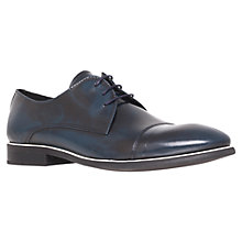 Buy KG by Kurt Geiger Padstow Toe Cap Derby Shoes, Navy Online at johnlewis.com