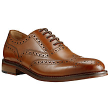 Buy John Lewis Bentley Storm Leather Brogue Shoes, Cognac Online at johnlewis.com