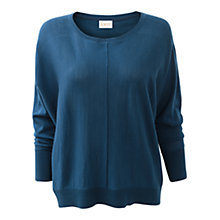 Buy East Batwing Oversized Jumper, Marine Online at johnlewis.com