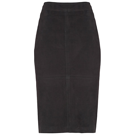 Buy Damsel in a dress Novella Suede Skirt, Black Online at johnlewis.com