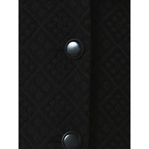 Buy Jigsaw Graded Quilt Coat, Black Online at johnlewis.com