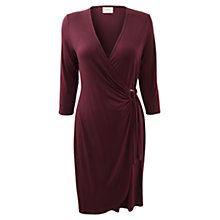 Buy East Plain Jersey Wrap Dress, Merlot Online at johnlewis.com