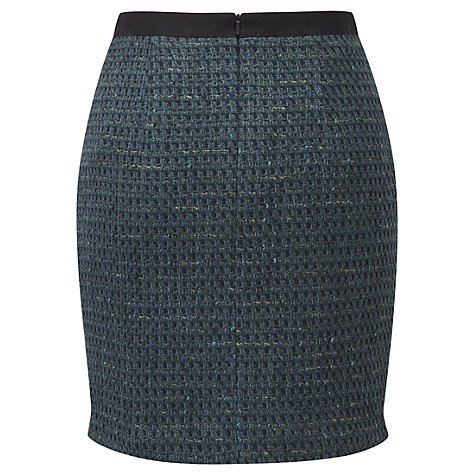 Buy Viyella Ella Tweed Skirt, Emerald Online at johnlewis.com