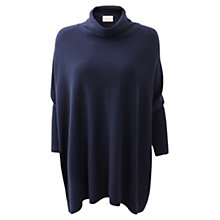 Buy East Cowl Neck Oversized Jumper, Navy Online at johnlewis.com