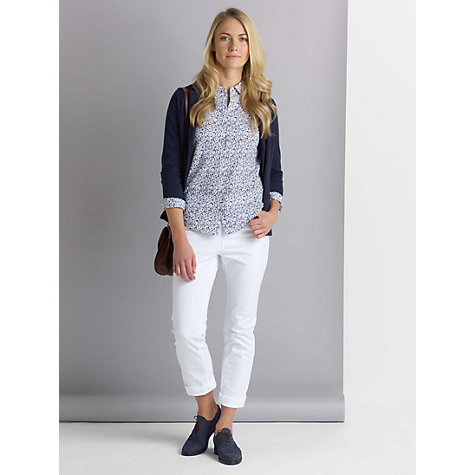 Buy John Lewis Twill Straight Leg Jeans, White Online at johnlewis.com