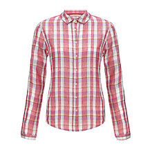 Buy John Lewis Linen Check Shirt Online at johnlewis.com