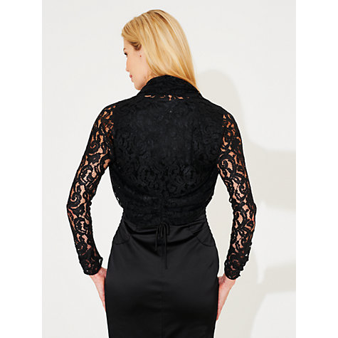 Buy Damsel in a dress Lace Shrug, Black Online at johnlewis.com